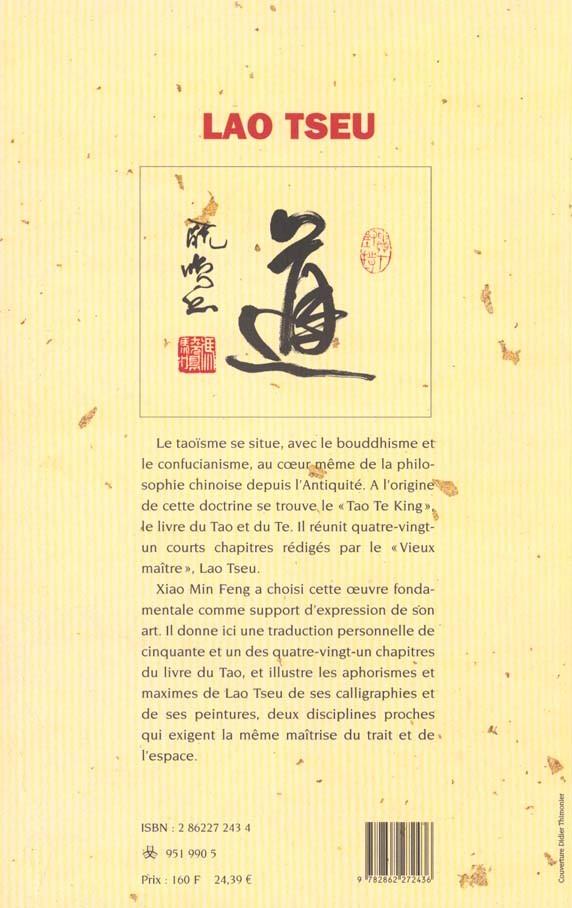 Lao-tseu 4e de couverture