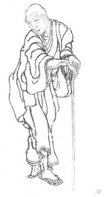Hokusai autoportrait