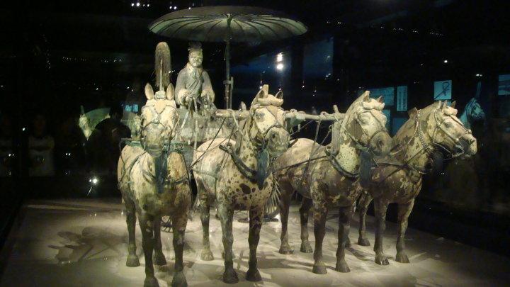 Rabah Fettih à Xi'An, tombeau de Qin (premier empereur de Chine)
