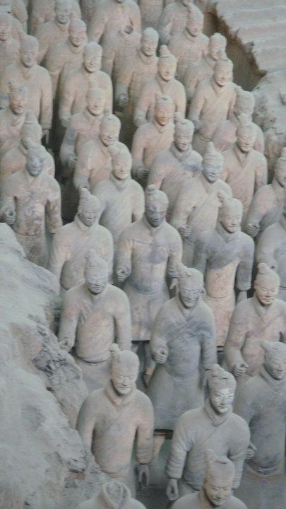 Rabah Fettih à Xi'A, détail des soldats de Qin