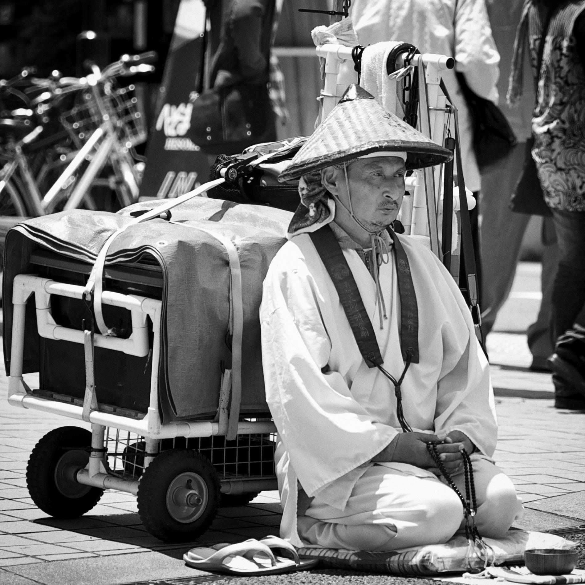 O Settai, pilgrim on the Henro trail in Kochi/Shikoku