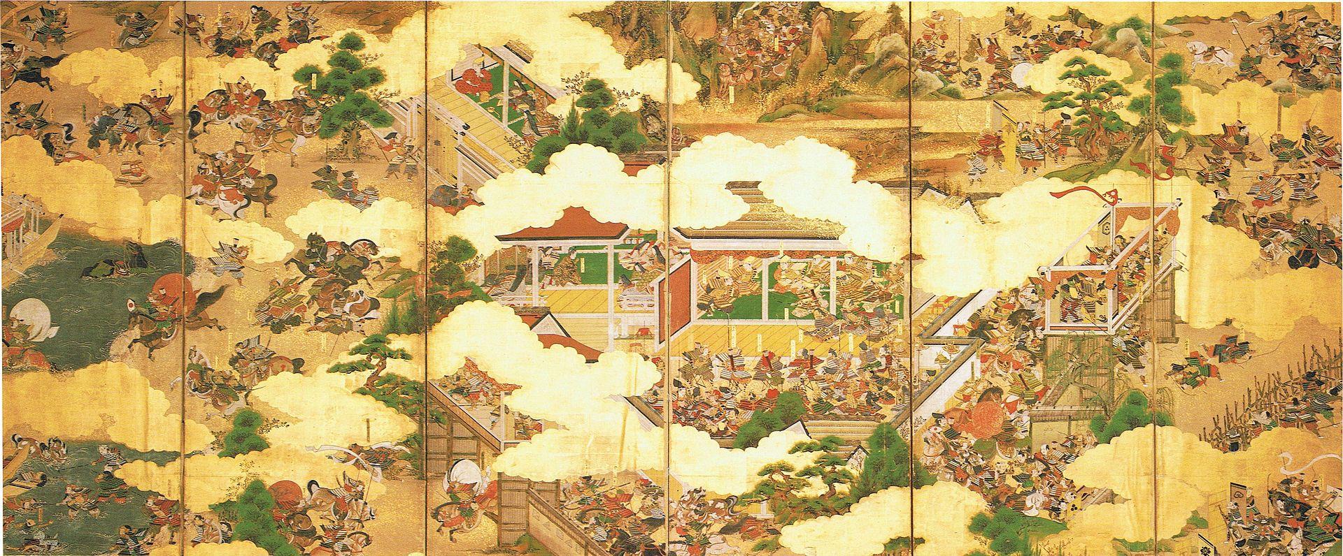 scène de la guerre Genpei_kassen
