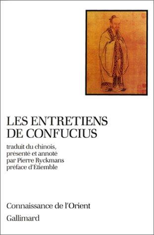 Les Entretiens de Confucius, coll Connaissance de l'Orient