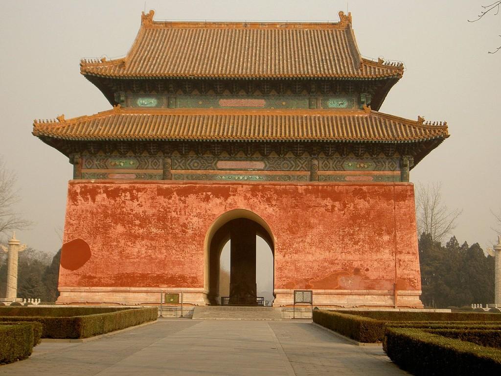 La Voie des Esprits passant sous le Temple de la Stèle aux Tombeaux Ming à Changping