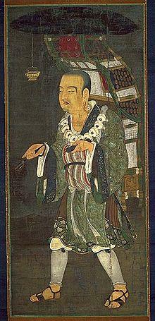 Peinture représentant Xuanzang en route pour l'Inde.