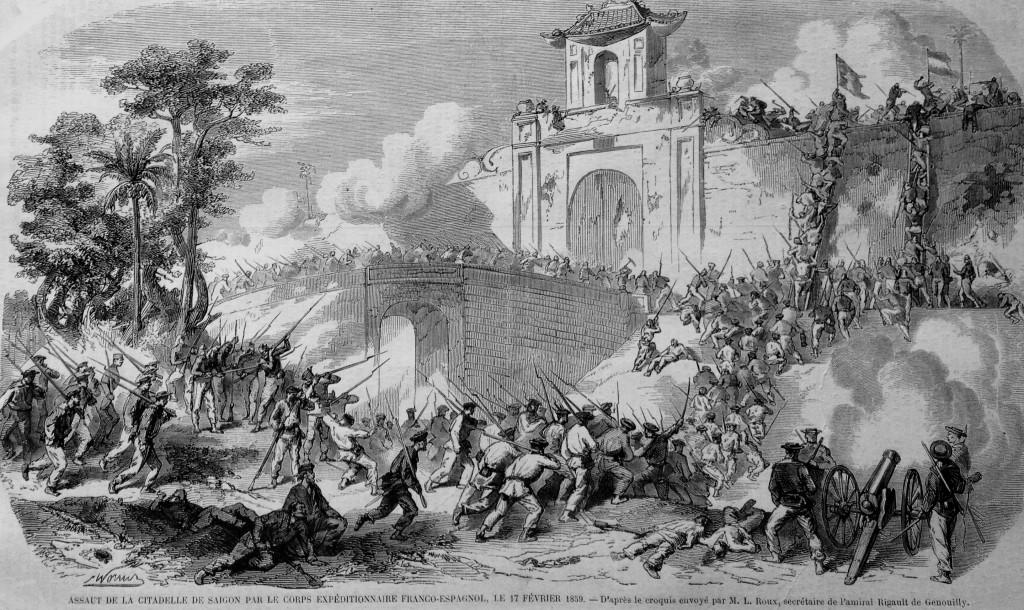 Assaut de la citadelle de Saïgon par le corps expéditionnaire franco-espagnol le 17 février 1859