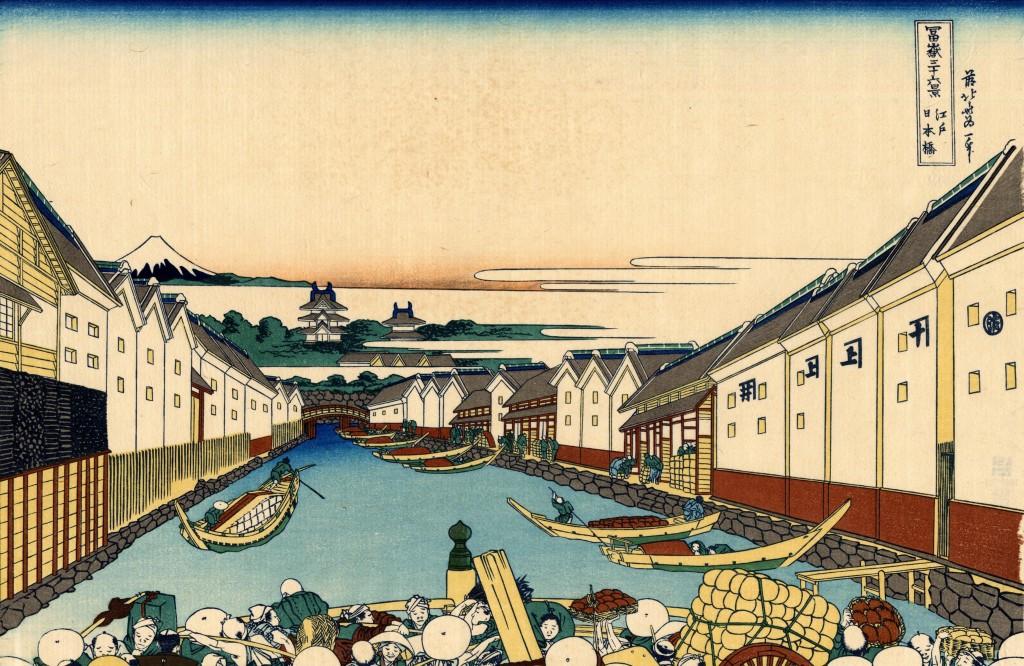 Le pont de Nihonbashi d'Hokusai