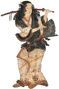 Izumo no Okuni, fondatrice du kabuki durant les années 1600.