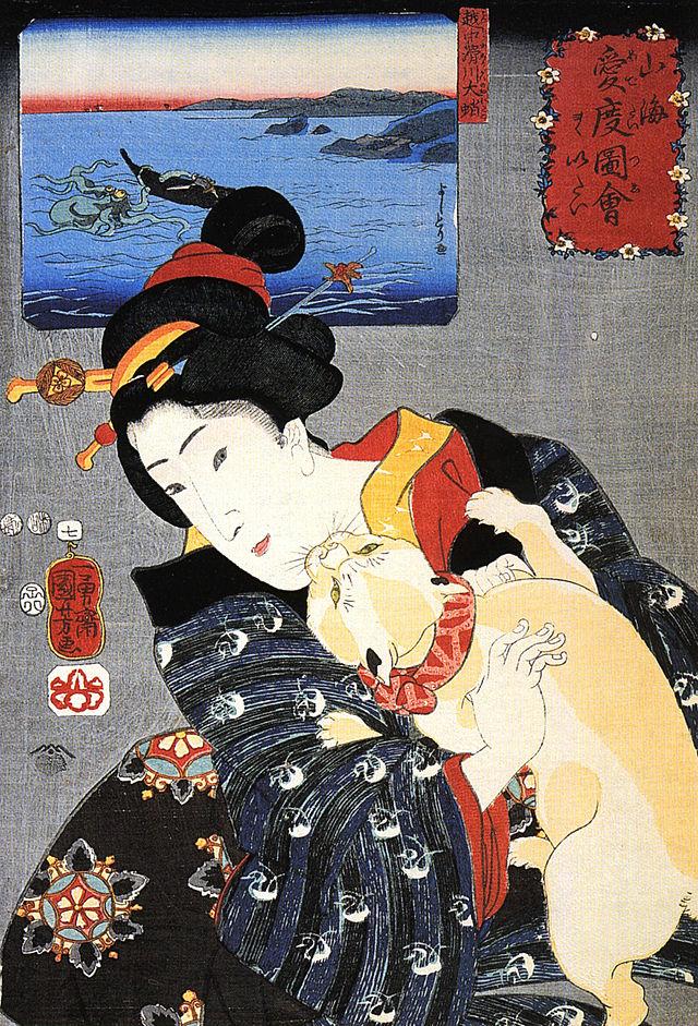 Femme d'Utagawa Kuniyoshi