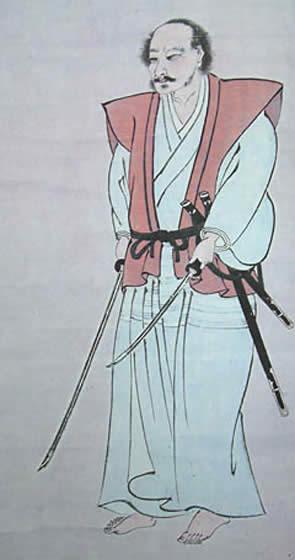 Miyamoto Musashi, Auto-portrait, Samurai, écrivain et artiste, env. 1640