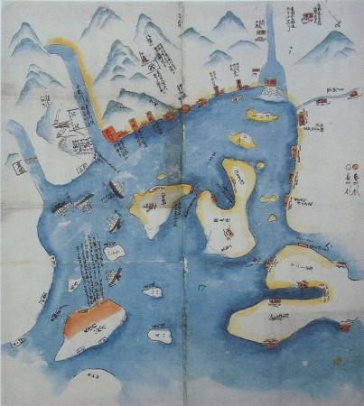Carte des opérations de la seconde expédition de Chōshū, par Sakamoto Ryom